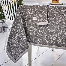 Tischdecke: Opulente Halbleinen-Tischwäsche aus