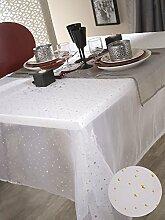 Tischdecke Organza Etoile 140x 350