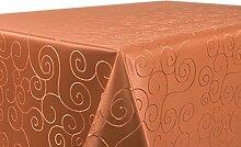Tischdecke Ornamente Kreise Motiv, Damast Stoff