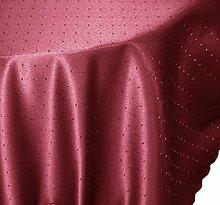 Tischdecke oval 130x260 cm Phase Struktur Tafeltuch bügelfrei fleckenabweisend #1541 beere