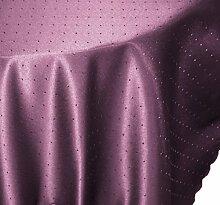 Tischdecke oval 160x260 cm Phase Struktur Tafeltuch bügelfrei fleckenabweisend #1256 (lila)
