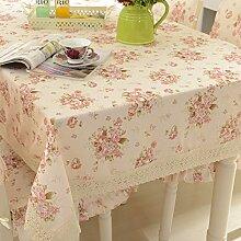 Tischdecke pastoral tischdecke,lace fabric tischtuch,tee tischdecke-A 150x200cm(59x79inch)