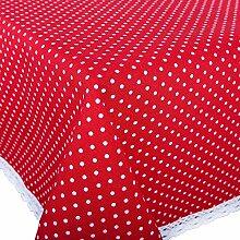 Tischdecke Polka, rot, 130x220 cm Moderne
