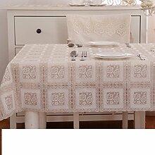 Tischdecke pvc-handtuch wasserdichte matte spitze Öl-beweis ländlichen europäisch anmutenden tischdecken antifouling-tischdecke-H 138x100cm(54x39inch)