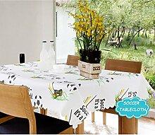 Tischdecke PVC Ohne Reinigung Druck Wasserdicht Und Öl-Beweis-Kunststoff-Couchtisch Tuch Umwelt Sauber Tuch Weihnachten Tischdecken,Soccertablecloth-53.9*72.0In