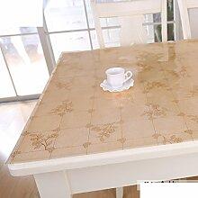 Tischdecke/pvc,rechteck,tischtuch/couchtisch mat/pad/weichglas,wasserdicht],Öl-beweis,einweg,kunststoff tischdecken-L 80x135cm(31x53inch)