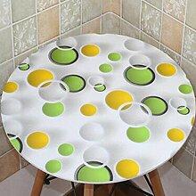 Tischdecke PVC runde Tisch Tisch Stoff wasserdicht und Öl frei waschen runde Tisch Mats Couchtisch Matte Kunststoff ( Farbe : A2 , größe : 80cm round )