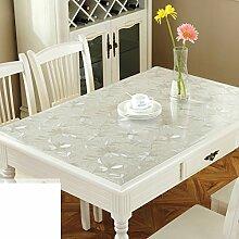 Tischdecke/pvc tischdecke/tischtuch/wasserdicht],burn-proof,weichglas/kunststoff,transparente tabelle mat/pad/dicke kristallplatte-H 80x150cm(31x59inch)