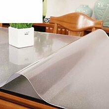 Tischdecke Pvc transparent,Weiches glas,Plastik-tischmatten Burn-proof,Wärmedämmung,Frosted,Teetisch matten Tischtuch Kristall-teller Wasserdichte tischdecke-B 90x120cm(35x47inch)