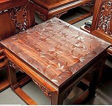 Tischdecke Pvc,Transparente tischdecke Wasserdicht],Quadrat,Quadratische tischdecke Kunststoff tischdecken Nachttisch,Mat kissen Untersetzer Kristall-teller-F 60x60cm(24x24inch)