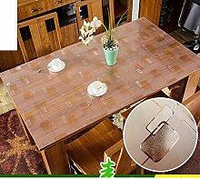 Tischdecke/pvc-verdichtung,weiches glas,wasserdicht],zu vermeiden, ein bügeleisen/-brett tischdecken/kunststoff,tischtuch/einweg,frosted,kristall-teller,transparent,anti-Öl-tischdecke-C 140x90cm(55x35inch)