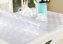 Tischdecke, PVC Wasserdicht Anti-Heiß Keine Notwendigkeit zu waschen Weiche Glas Tisch Mats Couchtisch Transparente Kristallplatte 1,5mm Dicke ( Farbe : #4 , größe : 90*140cm )