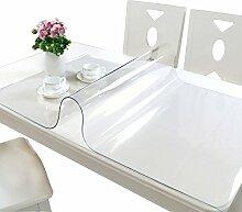 Tischdecke, PVC Wasserdicht Anti-Heiß Keine Notwendigkeit zu waschen Weiche Glas Tisch Mats Couchtisch Transparente Kristallplatte 1,5mm Dicke ( Farbe : #1 , größe : 90*120cm )
