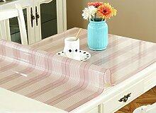 Tischdecke, PVC wasserdicht Anti-hot keine Notwendigkeit zu waschen weichen Glas Tisch Mats Couchtisch transparente Kristallplatte 1mm Dicke ( Farbe : #2 , größe : 70x70cm )