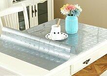 Tischdecke, PVC wasserdicht Anti-hot keine Notwendigkeit zu waschen weichen Glas Tisch Mats Couchtisch transparente Kristallplatte 1mm Dicke ( Farbe : #3 , größe : 90x160cm )