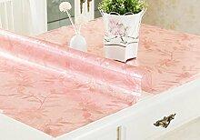 Tischdecke, PVC wasserdicht Anti-hot keine Notwendigkeit zu waschen weichen Glas Tisch Mats Couchtisch transparente Kristallplatte 1mm Dicke ( Farbe : #4 , größe : 70*140cm )