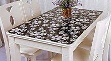 Tischdecke, PVC wasserdicht Anti-hot keine Notwendigkeit zu waschen weichen Glas Tisch Mats Couchtisch transparente Kristallplatte 1mm Dicke ( Farbe : #1 , größe : 80*130cm )