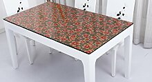Tischdecke, PVC wasserdicht Anti-hot keine Notwendigkeit zu waschen weichen Glas Tisch Mats Couchtisch transparente Kristallplatte 1mm Dicke ( Farbe : #2 , größe : 70x130cm )