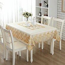 Tischdecke, PVC wasserdicht Anti-hot keine Notwendigkeit zu waschen weichen Glas Tisch Mats Couchtisch Rechteck 135X180cm