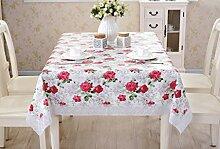Tischdecke, PVC wasserdicht Öl-proof europäischen Stil ländlichen keine Notwendigkeit zu waschen Plastik Tisch Tuch rutschfeste Kaffee Mats ( Farbe : #1 , größe : 137x200cm )
