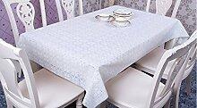 Tischdecke, PVC Wasserdicht Transparente Couchtisch Kristall Tisch Esstisch Verschiedene Stile Multi-Größe willkürlich geschnitten ( Farbe : #2 , größe : 137*197cm )