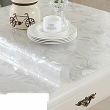 Tischdecke/pvc weichglas,tischdecke/dining schreibtischunterlagen/wasserdicht],burn-proof,einweg,verdicken sie,kunststoff tischdecken/teetisch matten/transparente crystal version-C 85x140cm(33x55inch)