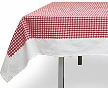 Tischdecke quadratisch Baumwolle 180x180 cm VICHY