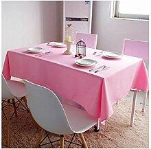 Tischdecke quadratisch einfarbig Stoff für