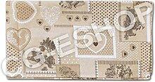 Tischdecke QUADRATISCH Landhausstil Baumwolle Tisch quadratisch 140x 140cm Versailles grau