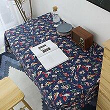Tischdecke, Rechteck Baumwolle Weich Verblassen