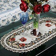 Tischdecke, rechteckig, aus der Pastoral, Weihnachtsstern-Tischläufer, Blumen-Tischläufer, Dekoration für Zuhause, Wie abgebildet, 40cm*150cm