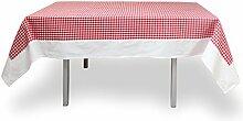 Tischdecke rechteckig Baumwolle 140x240 cm VICHY ro