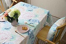 Tischdecke, rechteckig, Baumwolle, 89 x 89 cm,
