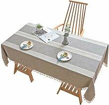Tischdecke, rechteckig, Baumwolle, Leinen, Nähte,