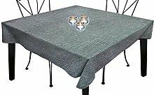 Tischdecke rechteckig mit Fleckschutz 160x250 cm BELLA grau, Soleil d'ocre