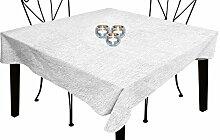 Tischdecke rechteckig mit Fleckschutz 160x250 cm BELLA weiß, Soleil d'ocre