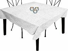 Tischdecke rechteckig mit Fleckschutz 160x300 cm BELLA weiß, Soleil d'ocre