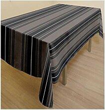 Tischdecke rechteckig mit Fleckschutz recycelte Baumwolle KENT grau