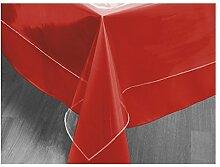 Tischdecke rechteckig transparent 140x200 cm CRISTAL