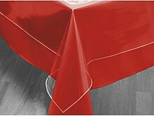 Tischdecke rechteckig transparent 140x300 cm CRISTAL