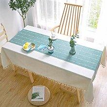 Tischdecke, Rechteckige Tischdecke Mit Quaste,