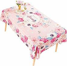 Tischdecke Rosa Blumen Baumwolle Leinentuch Kleine