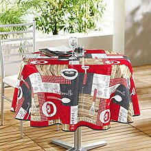 Tischdecke, rot, 160 cm