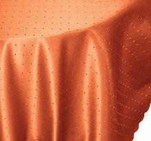 Tischdecke rund 180 cm Ø Phase Struktur bügelfrei fleckenabweisend Tafeltuch #1369 (terra)
