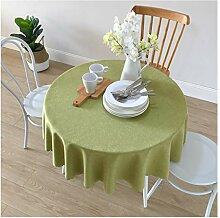 Tischdecke, rund, aus Solider Baumwolle, Leinen,