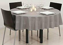 Tischdecke rund, fleckabweisend, Grau