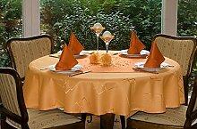 TISCHDECKE rund in vielen verschiedenen Größen, Farben teflonbeschichtet, in Designs:Eleganz, orange Durchmesser: 160 cm