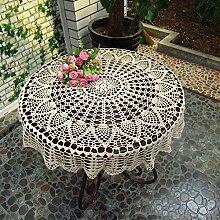 Tischdecke rund Spitzendecke Tischtuch Tischdecke
