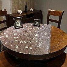 Tischdecke rund Wasserdicht PVC zum Test des Öls