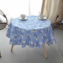 Tischdecke Runde Tischdecke Baumwolle und Leinen